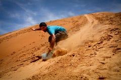 Sandboarding Royaltyfri Foto