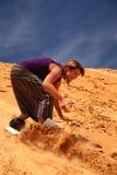 Sandboarding Stockbild