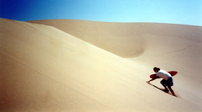 Sandboarding stock photography