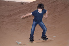 Sandboarding Stock Afbeelding