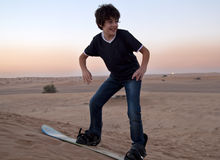 Sandboarding Stock Foto