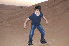 Sandboarding Royalty-vrije Stock Fotografie