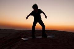 Sandboarding Royalty-vrije Stock Afbeeldingen