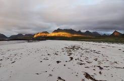 Sandbotnen, Lofoten, Norvège Image stock