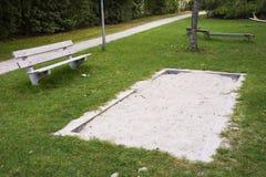 Sandbox και πάγκος Στοκ εικόνες με δικαίωμα ελεύθερης χρήσης