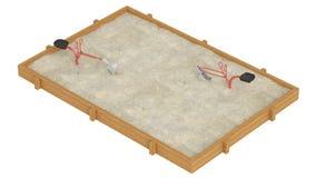 Sandbox. Isolated on white background Royalty Free Stock Photos