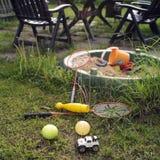 Sandbox And Garden Furniture Stock Photo
