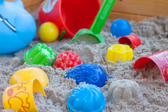 Sandbox with a lot equpe Royalty Free Stock Photo