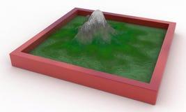Sandbox Mountain. Over white surface Stock Images