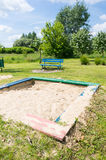 Sandbox. At a park Stock Photo