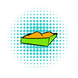Sandbox on a playground icon, comics style Royalty Free Stock Image