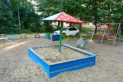 Sandbox on the playground Stock Photos