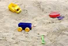 Sandbox with toys Royalty Free Stock Image
