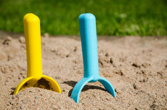 Sandbox tools closeup Royalty Free Stock Images