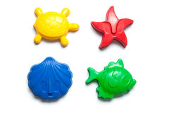 Sandbox toy forms in colors Stock Images