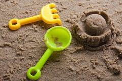 Sandbox toys Royalty Free Stock Photography