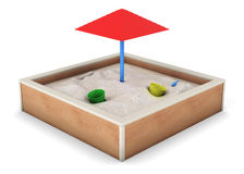 Sandbox  on white background. 3d rendering.  Royalty Free Stock Images