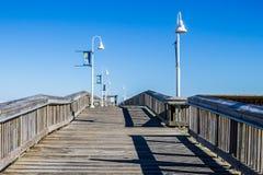Sandbridge fiskepir i Virginia Beach, Virginia Arkivbilder