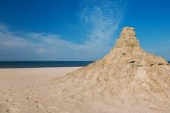 Sandburg auf dem Strand ruinen Lizenzfreie Stockfotografie
