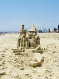 Sandburg in Santa Monica Lizenzfreies Stockbild