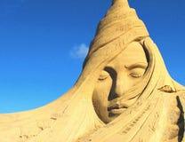 Sandburg-Skulptur Stockfotografie
