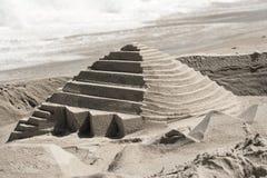 sandcastle пирамидки Стоковая Фотография