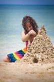 sandcastle пляжа Стоковое Изображение