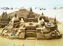 sandcastle fotografia stock libera da diritti