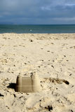 Sandcastle. At beach Royalty Free Stock Photography