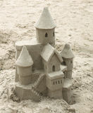 Sandcastle. A sandcastle on the beach Royalty Free Stock Image