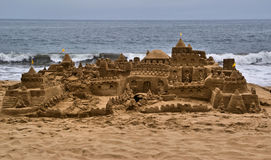 Sandcastle. At Vina Del Mar, Chile Royalty Free Stock Photo