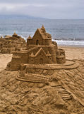 Sandcastle. At Vina Del Mar, Chile Royalty Free Stock Images