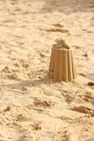 Sandcastle. In public sandbox, sunny day Royalty Free Stock Photography