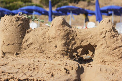 sandcastle Image stock