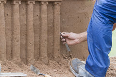 Sandcastle artist Royalty Free Stock Image