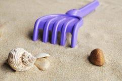 Sandcastle background Stock Photography