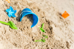 Sandcastle background Royalty Free Stock Photography