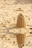 Sandcastle on a beach. Stock Images
