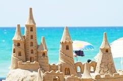 Sandcastle_beach Imagens de Stock Royalty Free