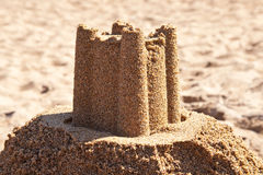 Sandcastle on beach Royalty Free Stock Photography