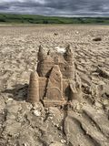 Sandcastle. On the beach Stock Image