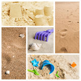 Sandcastle in the beach Stock Photo