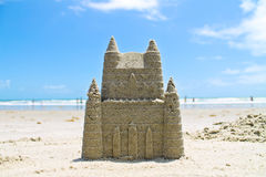 Sandcastle. On the beach in Florida Stock Image