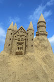 Sandcastle at a beach in Fuerteventura, Canary Islands Stock Photography