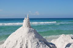 Sandcastle at the beach Royalty Free Stock Images