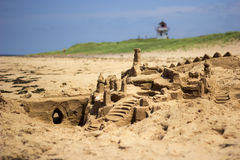 Sandcastle on the beach in Prince Edward Island Royalty Free Stock Image