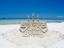 Sandcastle, Boracay Стоковое Изображение RF