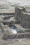 Sandcastle con il fossato Immagine Stock