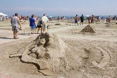 Sandcastle-Festival - Coburg, Ontario Juli 2011 lizenzfreie stockbilder