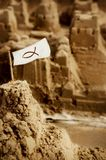 Sandcastle With Flag Stock Photography